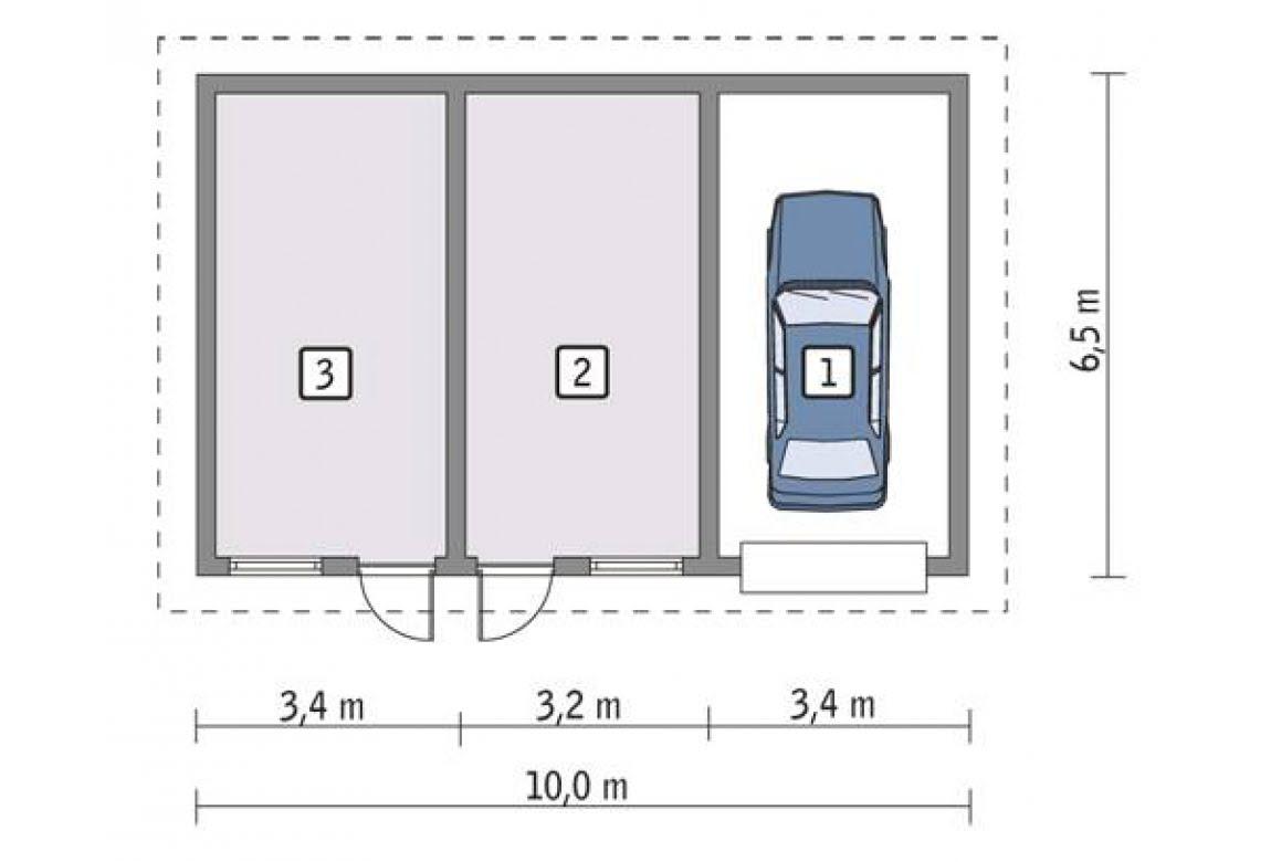 План N1 проекта гаража АСД-1658