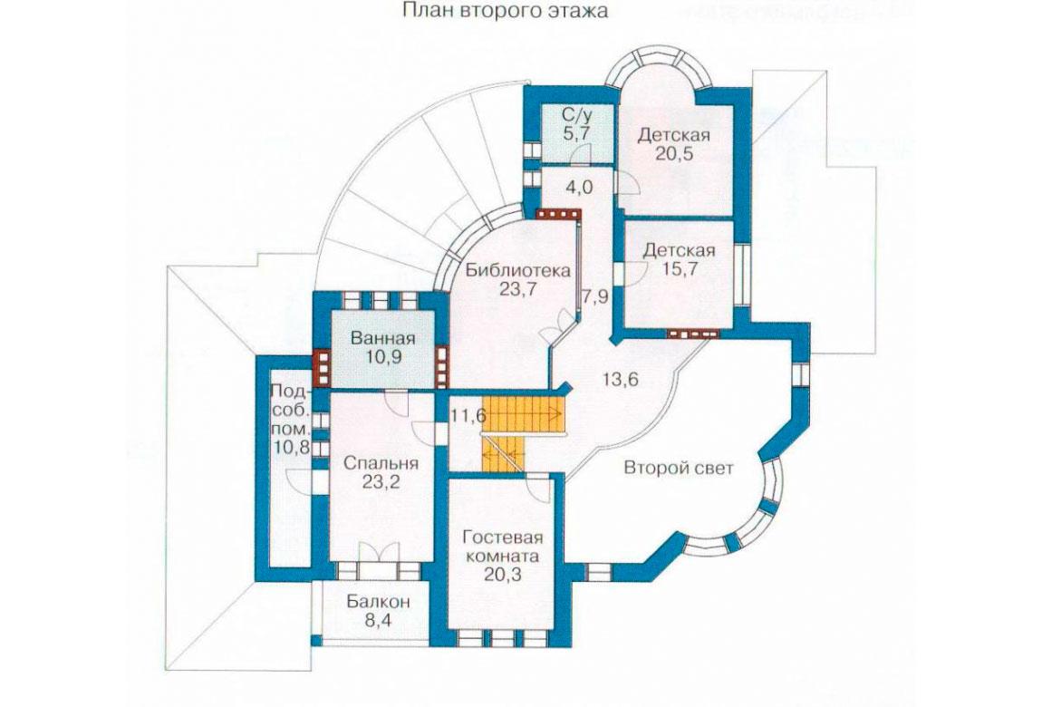 План N1 проекта кирпичного дома АСД-1066