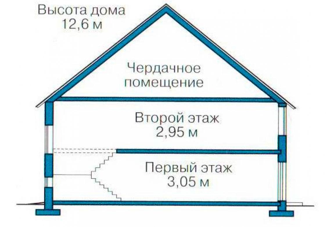 План N3 проекта кирпичного дома АСД-1066