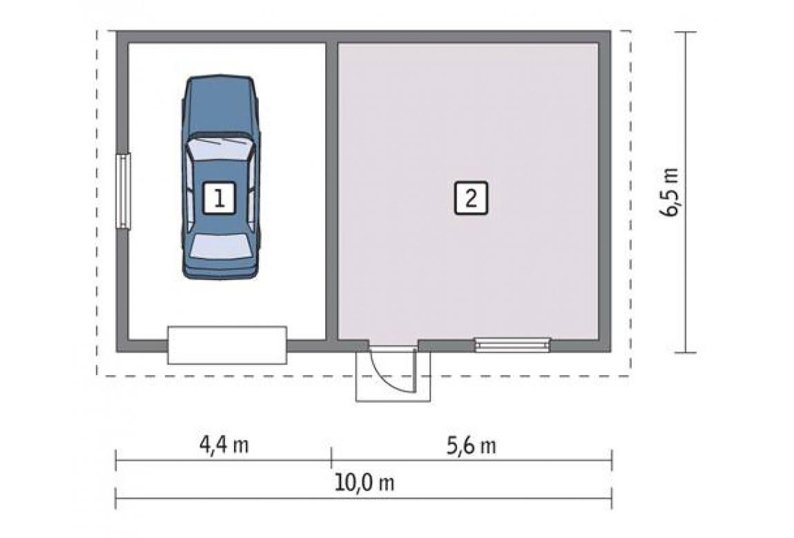 План N1 проекта гаража АСД-1660