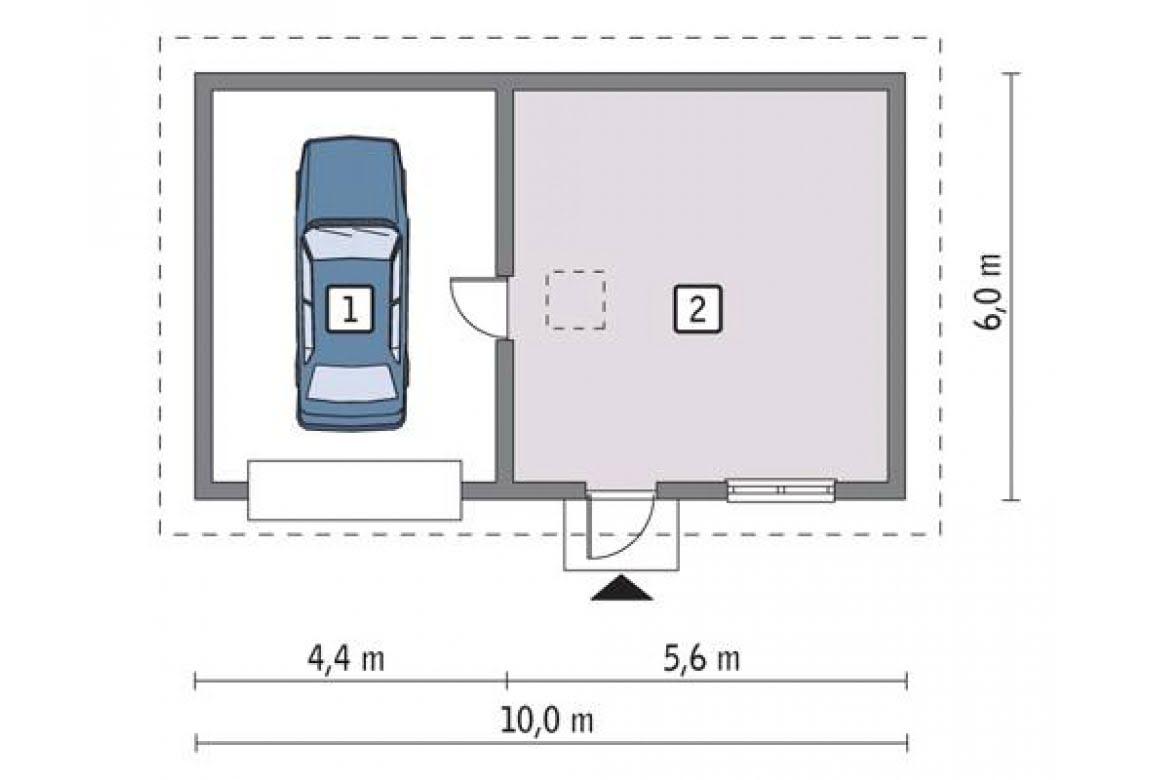 План N1 проекта гаража АСД-1661
