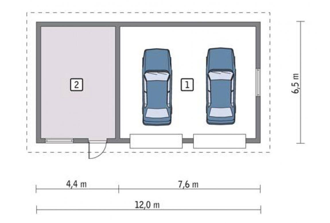 План N1 проекта гаража АСД-1662