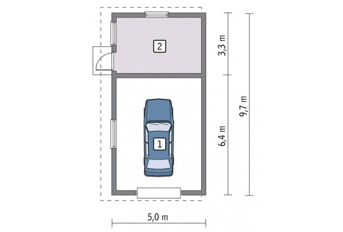 План N1 проекта гаража АСД-1663