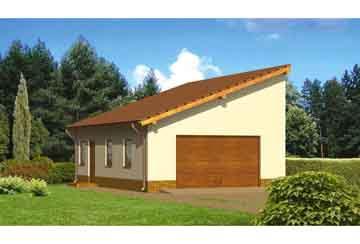 Проект гаража АСД-1664