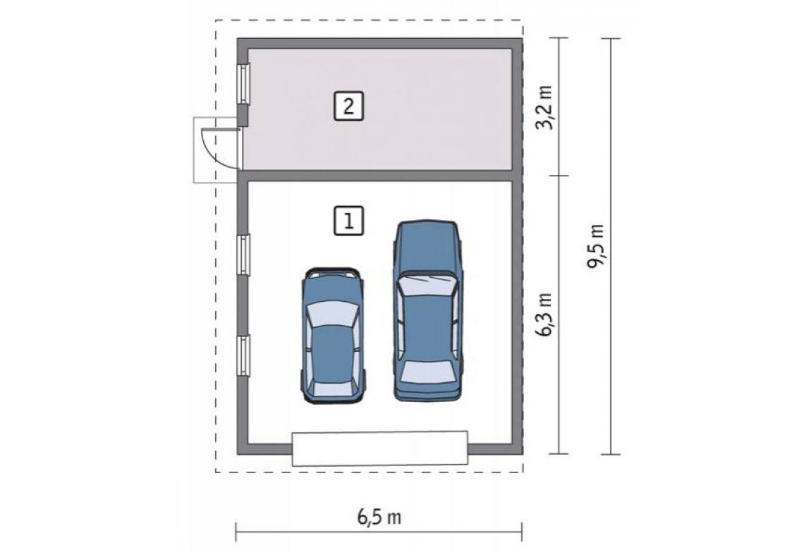 План N1 проекта гаража АСД-1664