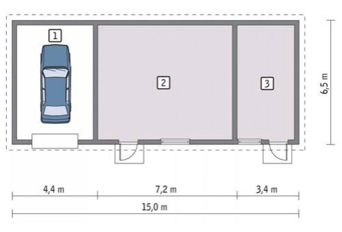 План N1 проекта гаража АСД-1665