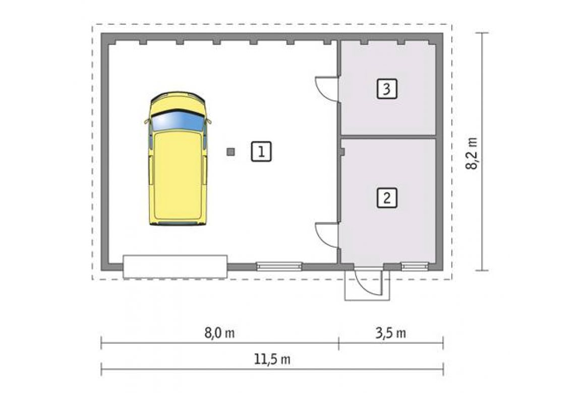 План N1 проекта гаража АСД-1666