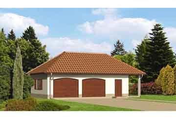 Проект гаража АСД-1667