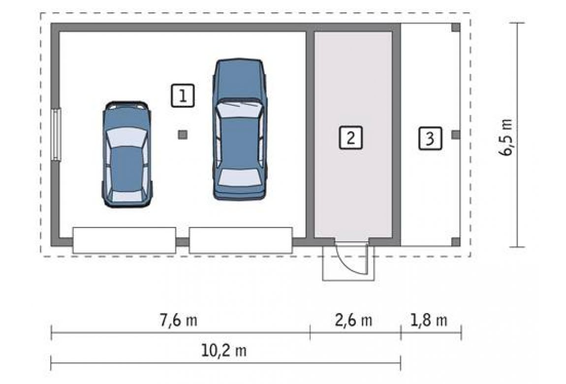 План N1 проекта гаража АСД-1667