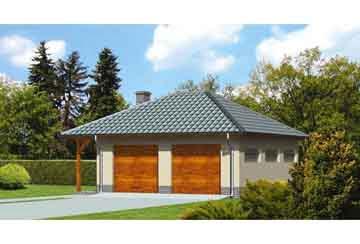 Проект гаража АСД-1668
