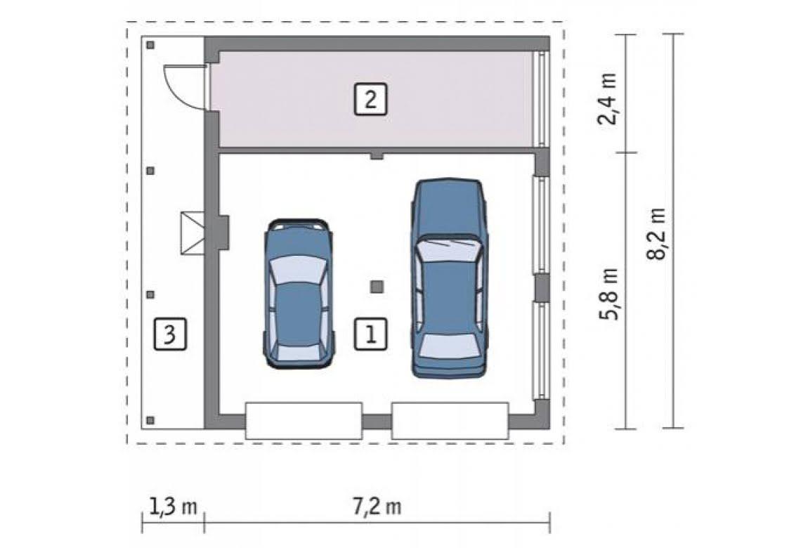 План N1 проекта гаража АСД-1668