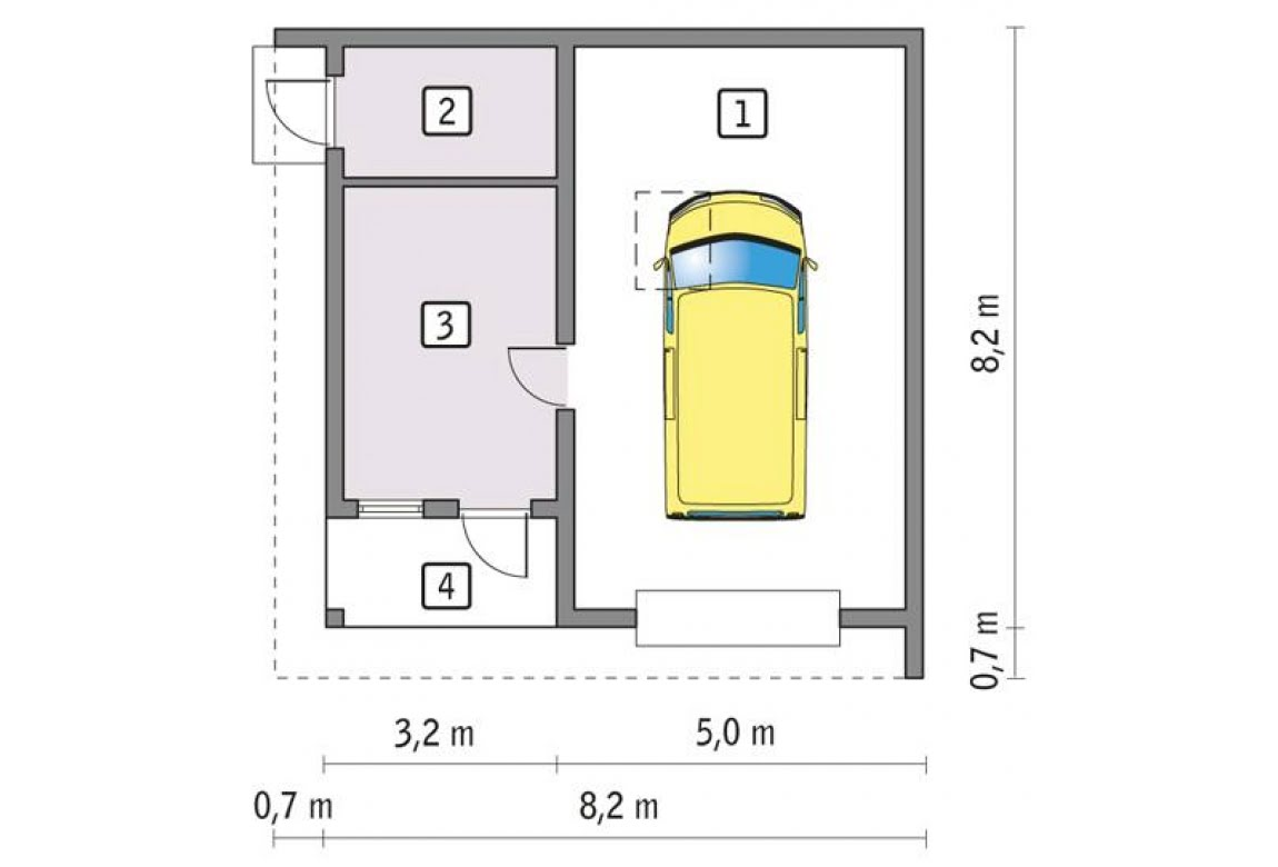 План N1 проекта гаража АСД-1669