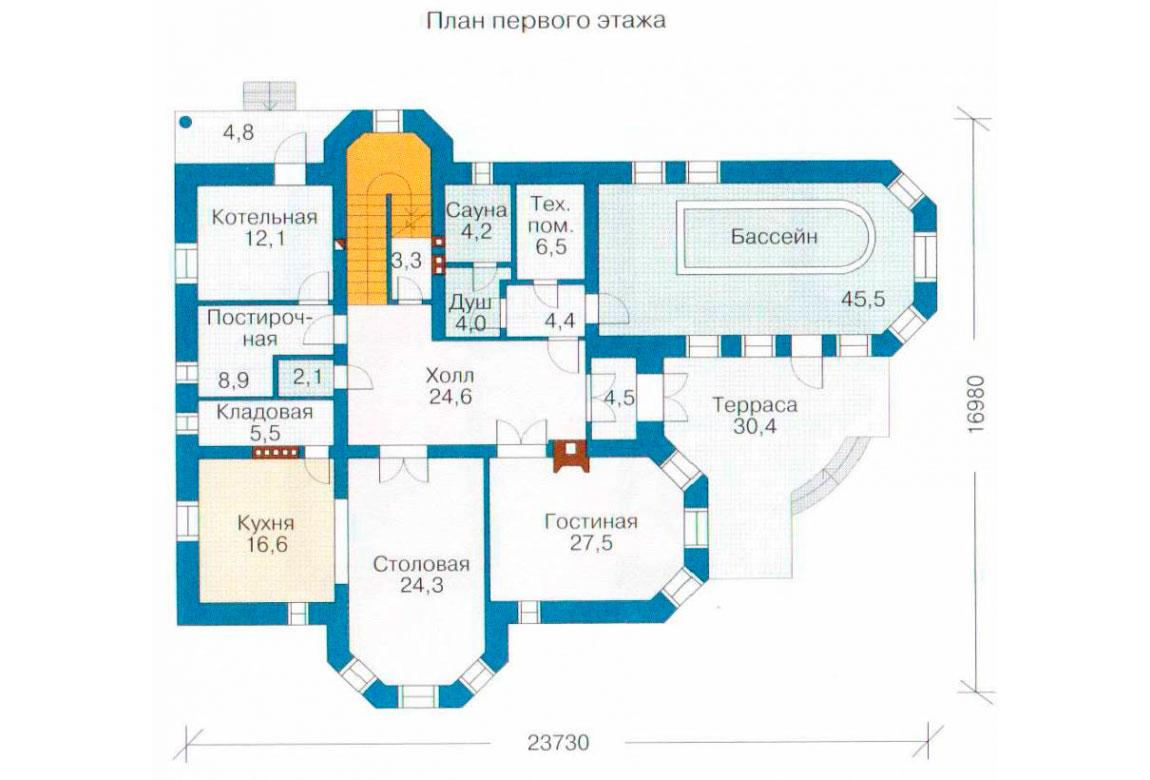 План N2 проекта кирпичного дома АСД-1067