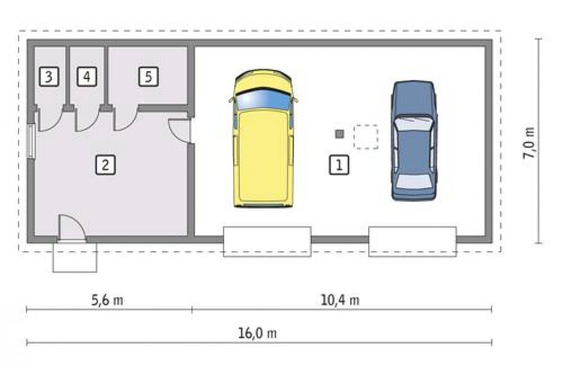 План N1 проекта гаража АСД-1670