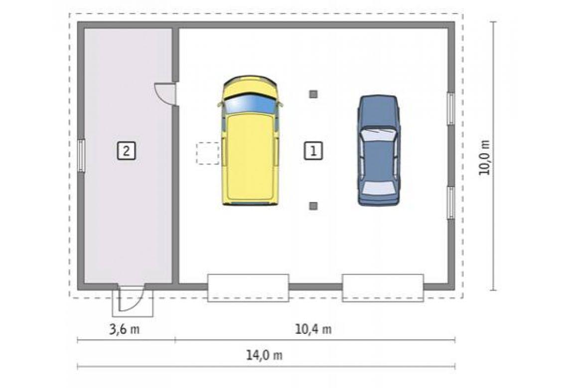 План N1 проекта гаража АСД-1671