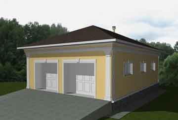 Проект гаража АСД-1673