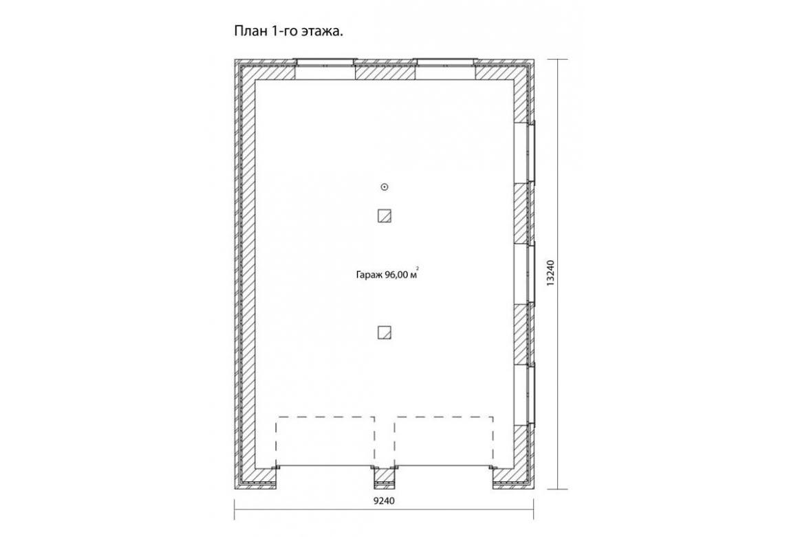 План N1 проекта гаража АСД-1673