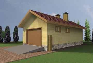 Проект гаража АСД-1674