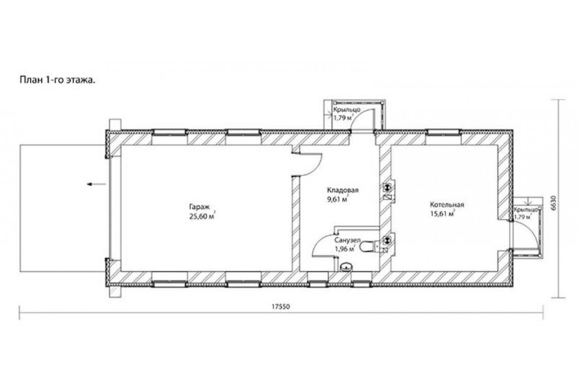 План N1 проекта гаража АСД-1674