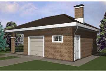 Проект гаража АСД-1675