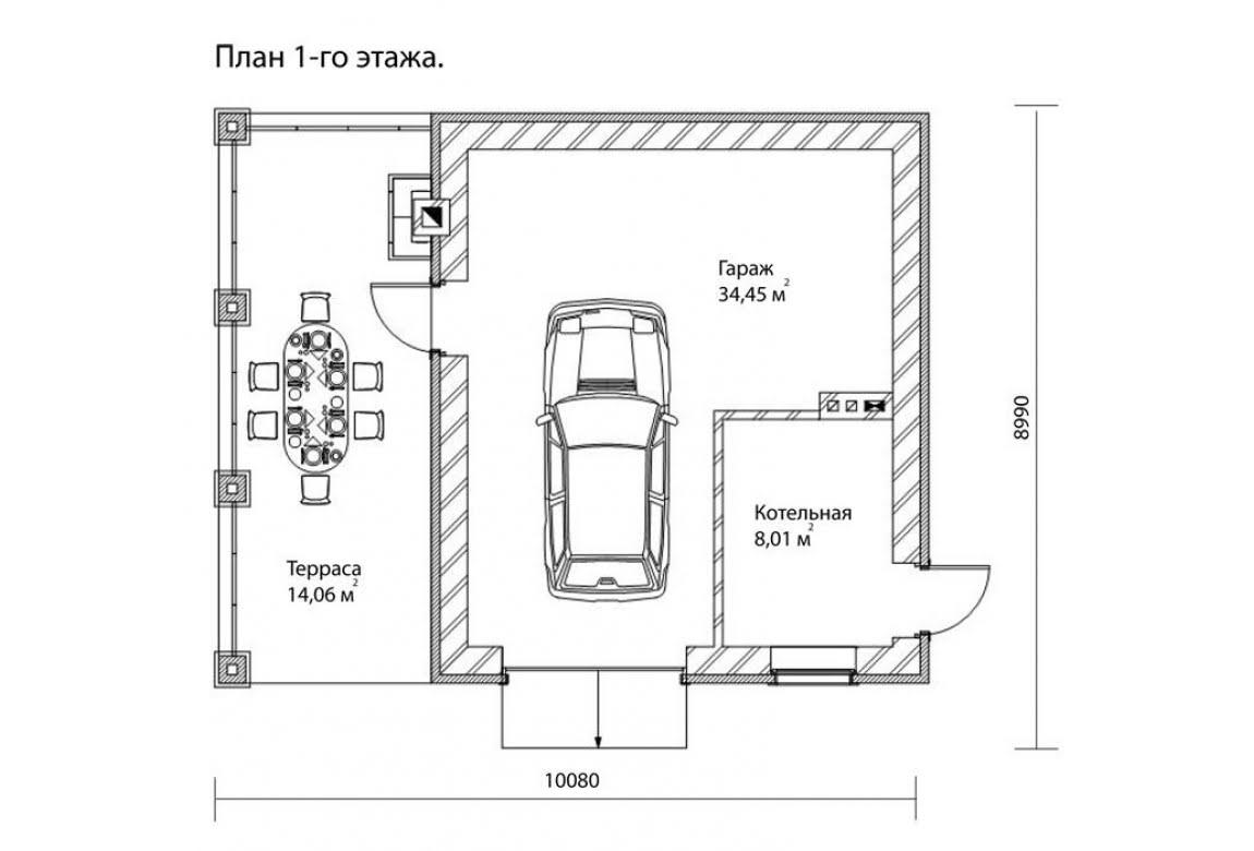 План N1 проекта гаража АСД-1675