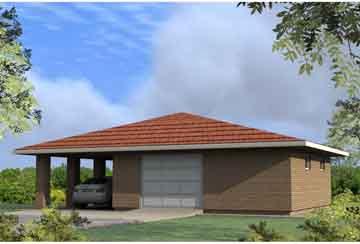 Проект гаража АСД-1676