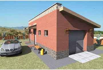 Проект гаража АСД-1677