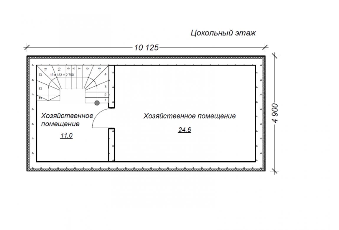 План N1 проекта гаража АСД-1677