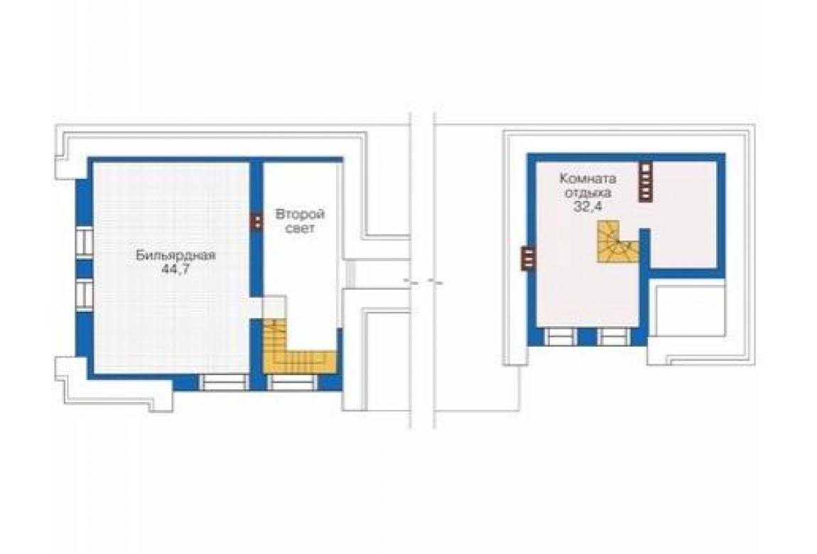 План N2 проекта кирпичного дома АСД-1679