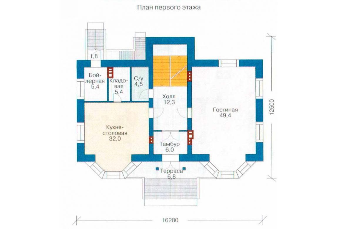 План N2 проекта кирпичного дома АСД-1068
