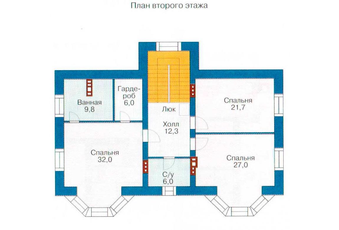 План N3 проекта кирпичного дома АСД-1068