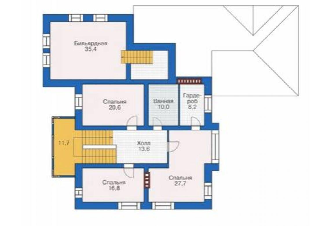 План N2 проекта кирпичного дома АСД-1680
