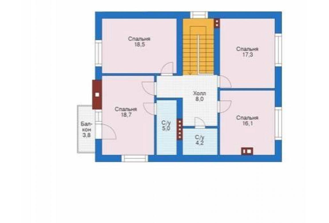 План N2 проекта дома из блоков АСД-1681