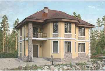 Проект дома из блоков АСД-1682