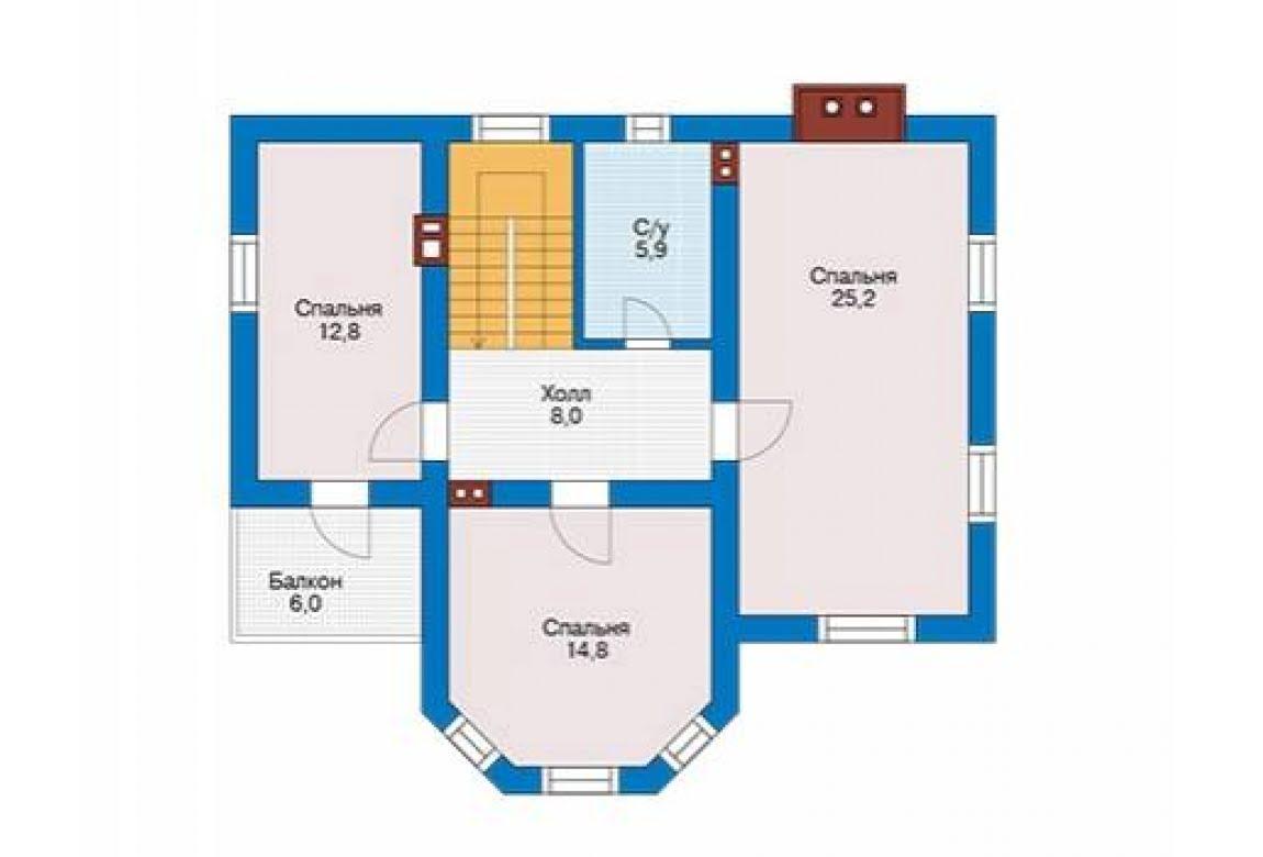 План N2 проекта дома из блоков АСД-1682