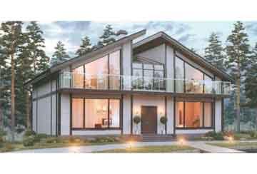 Проект дома из блоков АСД-1683
