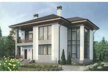 Проект дома из блоков АСД-1684