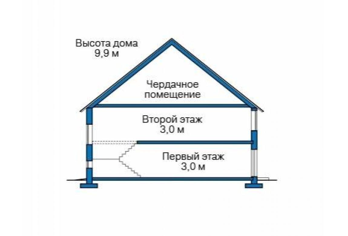 План N1 проекта дома из блоков АСД-1685