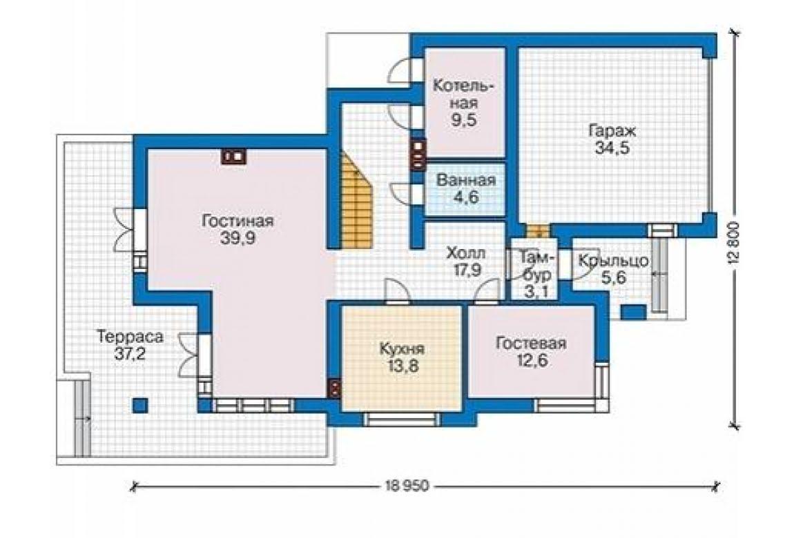 План N2 проекта дома из блоков АСД-1685
