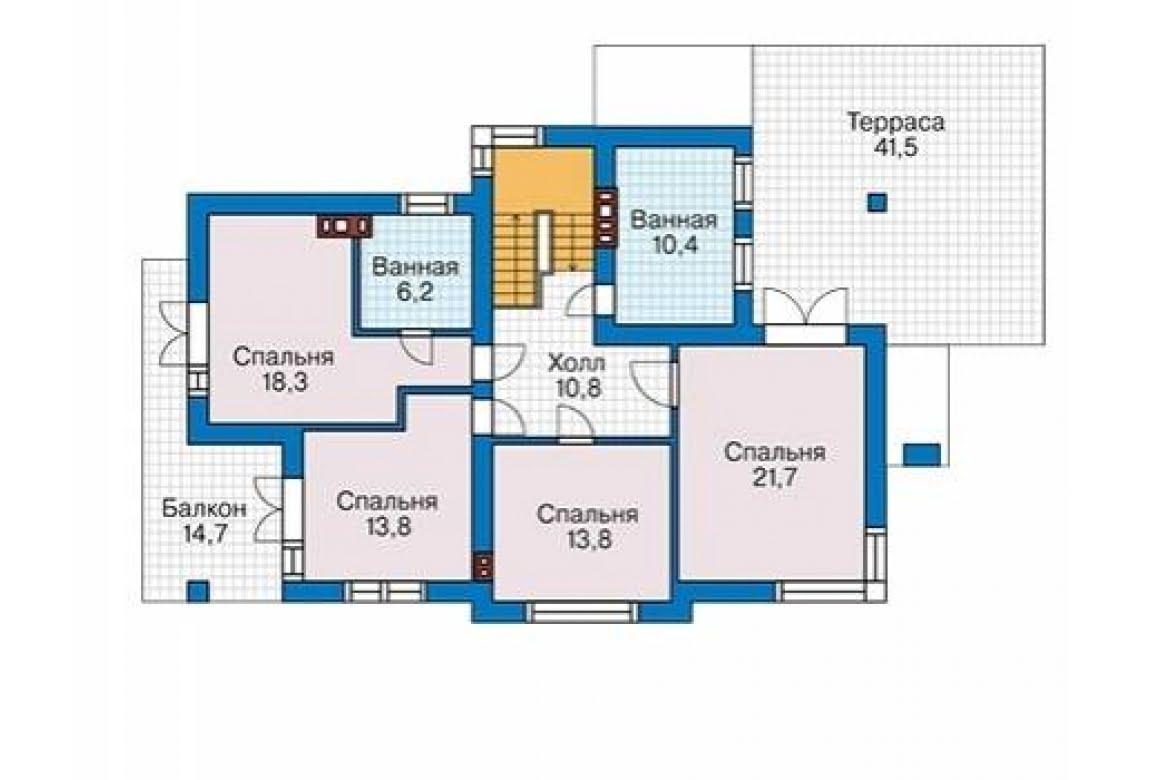 План N3 проекта дома из блоков АСД-1685