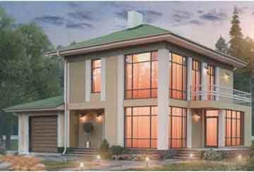 Проект дома из блоков АСД-1686
