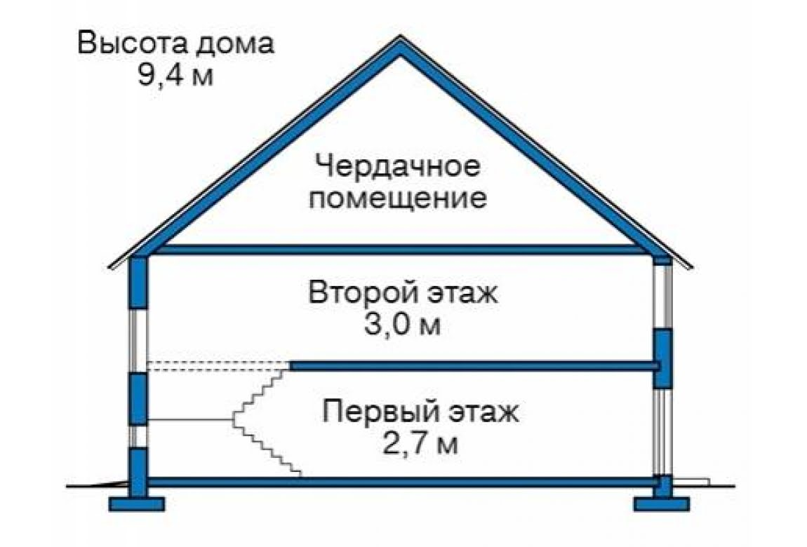 План N1 проекта дома из блоков АСД-1686