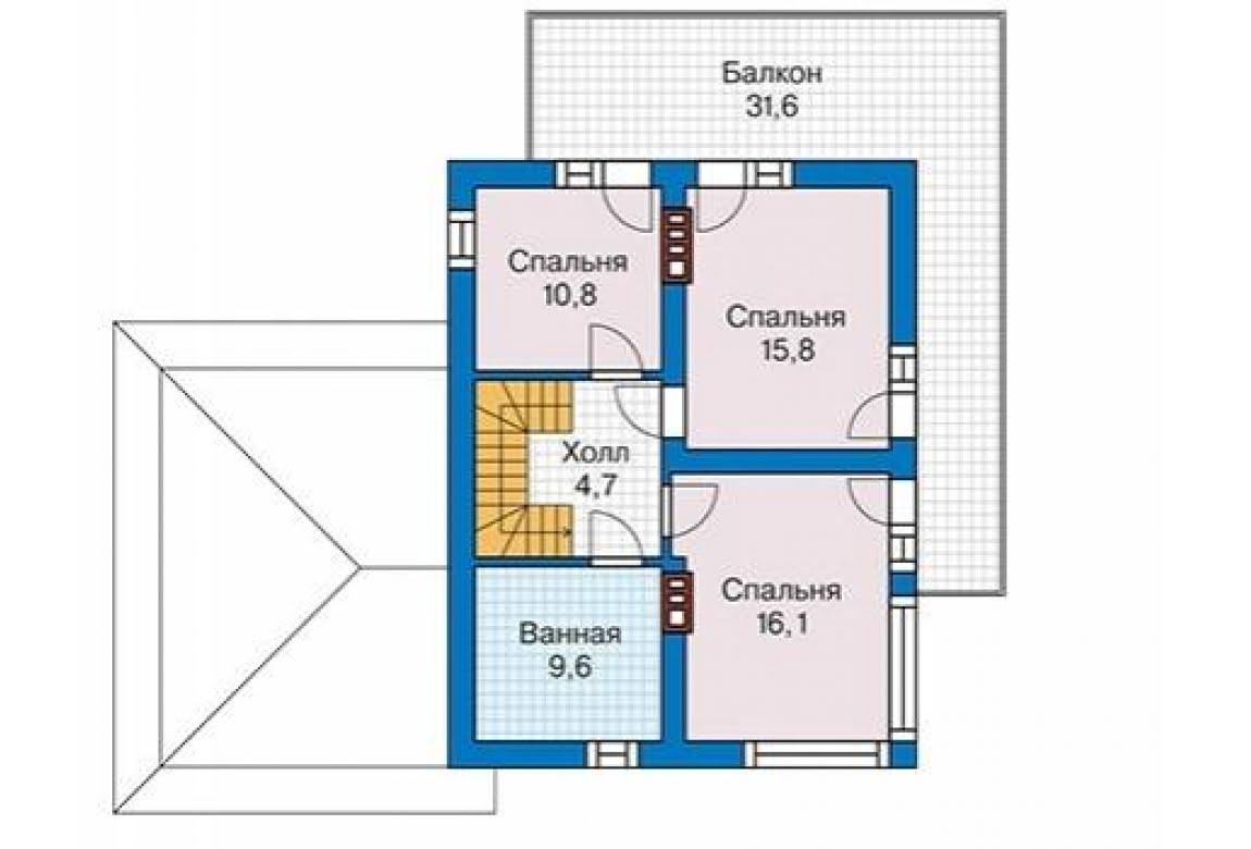 План N3 проекта дома из блоков АСД-1686