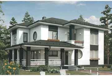 Проект дома из блоков АСД-1687