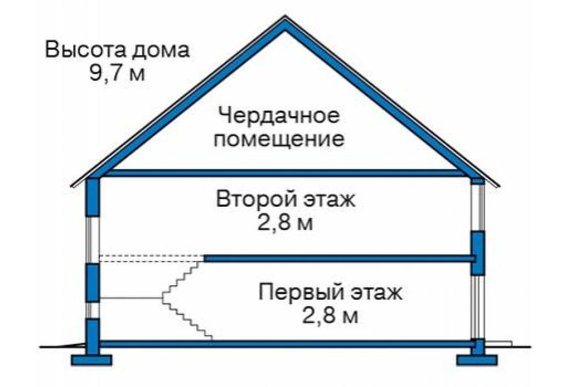 План N1 проекта дома из блоков АСД-1687