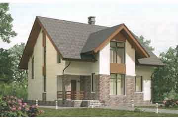 Проект дома из блоков АСД-1688