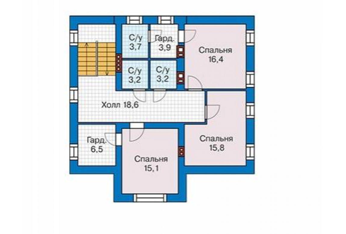 План N3 проекта дома из блоков АСД-1688