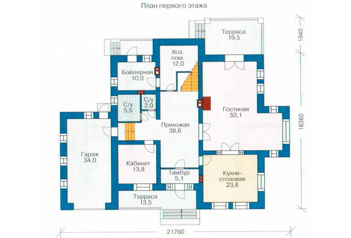 План N1 проекта кирпичного дома АСД-1069