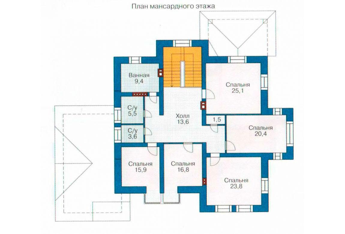 План N2 проекта кирпичного дома АСД-1069