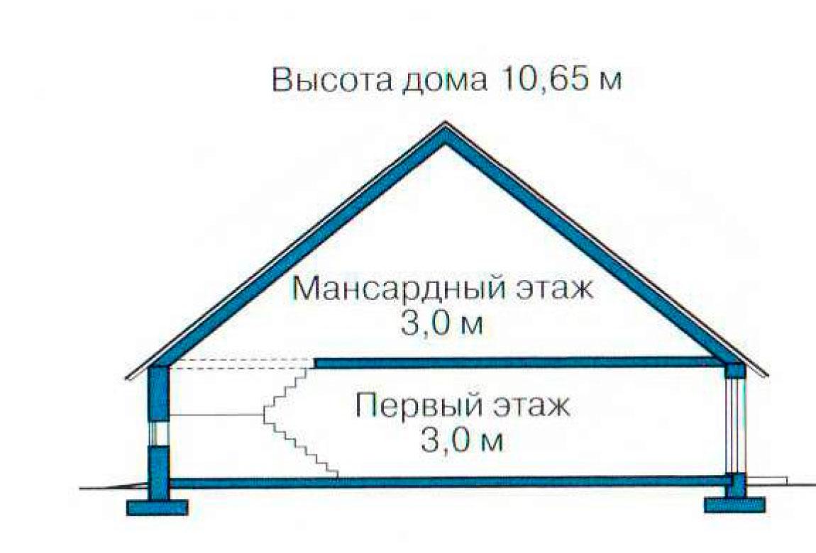 План N3 проекта кирпичного дома АСД-1069